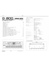Roland G-800 Service Notes 26 pages