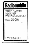 Radiomobile 310 CSR Owner's Manual 10 pages