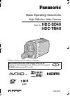 Panasonic HDC-TM40
