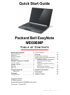 Packard Bell EasyNote ME69BMP Quick Start Manual 37 pages