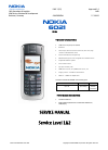 Nokia 2270 Service Manual 22 pages