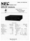 NEC AUT-8300E Service Manual 14 pages
