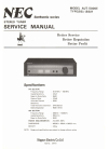 NEC AUT-5000E Service Manual 21 pages