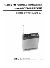 NEC CQ-P2200E Instruction Manual 17 pages
