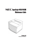 NEC Super Script 4400 Maintenance Manual 317 pages