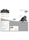 NEC SV-8100 Quick Start & Reference Manual 2 pages