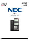 NEC SV-8100 Operation & User's Manual 5 pages