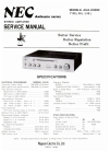NEC AUA-6300E Service Manual 20 pages