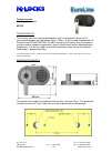 M-LOCKS EC1070 EuroLine series Technical Manual 3 pages