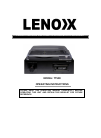 Lenox TT500 Operating Instructions 5 pages