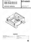 Kenwood X92-3770-00 Service Manual 29 pages