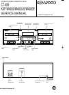 Kenwood KXF-W4030 Service Manual 18 pages