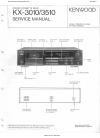 Kenwood kx-3010 Service Manual 23 pages