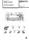 Kenwood KRC-V791 Service Manual 26 pages