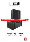 LEM Poseidon 212 Owner's Manual 26 pages