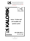 Kalorik USK GRB 32231 S Operating Instructions Manual 20 pages