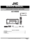 JVC AX-V8000 Service Manual 81 pages