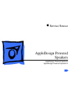 Apple AppleDesign Powered Speakers Service Source 14 pages