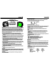 Work Pro Asym Operation & User's Manual 2 pages