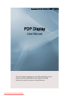 Samsung P63FP Operation & User's Manual 117 pages