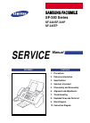Samsung SF-340 Service Manual 15 pages