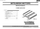 Mitsubishi CV-0MW3R45 Service Manual 34 pages