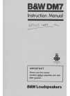 Bowers & Wilkins DM7 Instruction Manual 20 pages