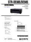 Sony STR-DE885