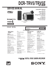 Sony DCR-TRV5 Service manual