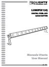 ProLights Lumipix12Q Operation & User's Manual 44 pages