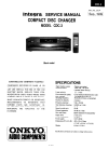 Integra CDC-3 Service Manual 23 pages