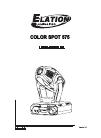 Elation Color Spot 575