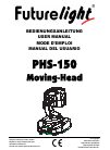 Future light PHS-150 Operation & User's Manual 28 pages