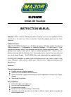Major tech ELF50CW Instruction Manual 4 pages