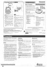 Panasonic RC-CD500 Operating Instructions Manual 8 pages