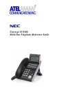 NEC SV-8100 Reference Manual 5 pages