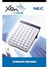 NEC XEN IPK DIGITAL TELEPHONE Attendant User Manual 16 pages