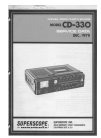 Superscope CD-330 Service Data 44 pages
