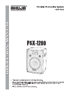 Ahuja PSX-1200 Operation Manual 8 pages