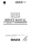 Aiwa LCX-K170 Service Manual 40 pages