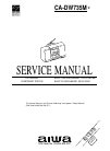 Aiwa CA-DW735M Service Manual 34 pages