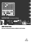 Behringer CMD TOUCH TC64 Quick Start Manual 11 pages