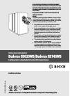 Bosch Buderus SB625WS Installation instructions manual