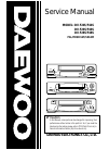 Daewoo DV-F24S Service Manual 110 pages