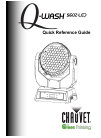 Chauvet Q-WASH 560Z-LED Quick reference manual