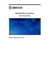 Dinstar DAG1000-4FXS Operation & user's manual