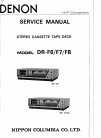 Denon DR-F6 Service Manual 48 pages