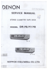 Denon DR-F6 Service Manual 66 pages