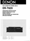 Denon DN-T620 Operating Instructions Manual 34 pages