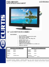 Curtis LCDVD326A Specification sheet